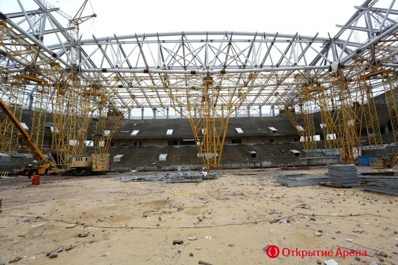 Строительство стадиона «Спартак». Ноябрь 2013 (Фото)