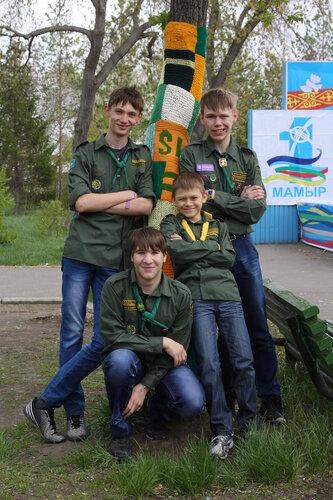 Уличное вязание в городе Павлодар
