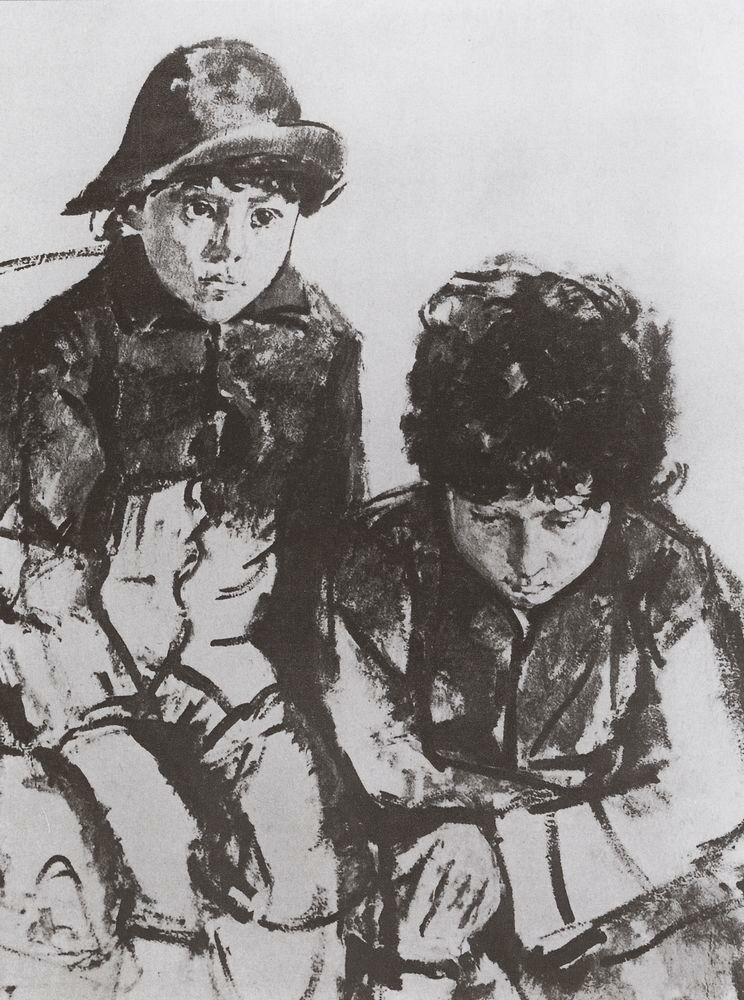 Дети Серова. Юра и Саша. 1902-1904.jpg