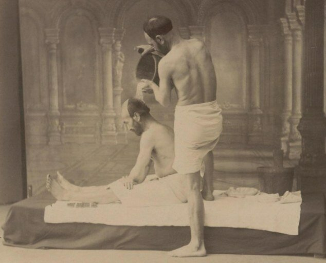 Hilarious images showing how the russians spent a day at the health spa in 1890