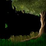 Деревья, кусты, трава