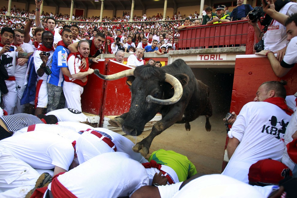 Традиционные забеги с быками