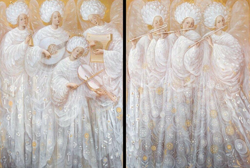 Белые ангелы (диптих).jpg