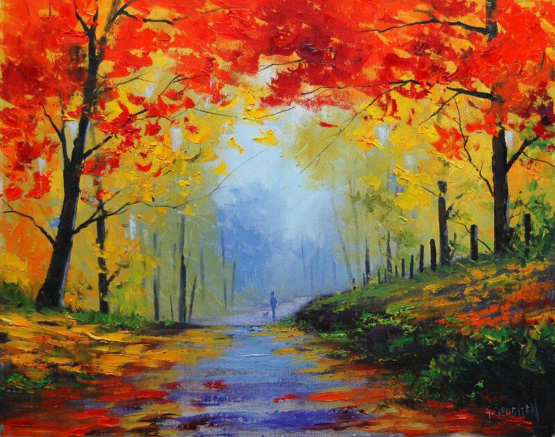 Нарисовать позднюю осень карандашом поэтапно можно на основе вот этого изображения