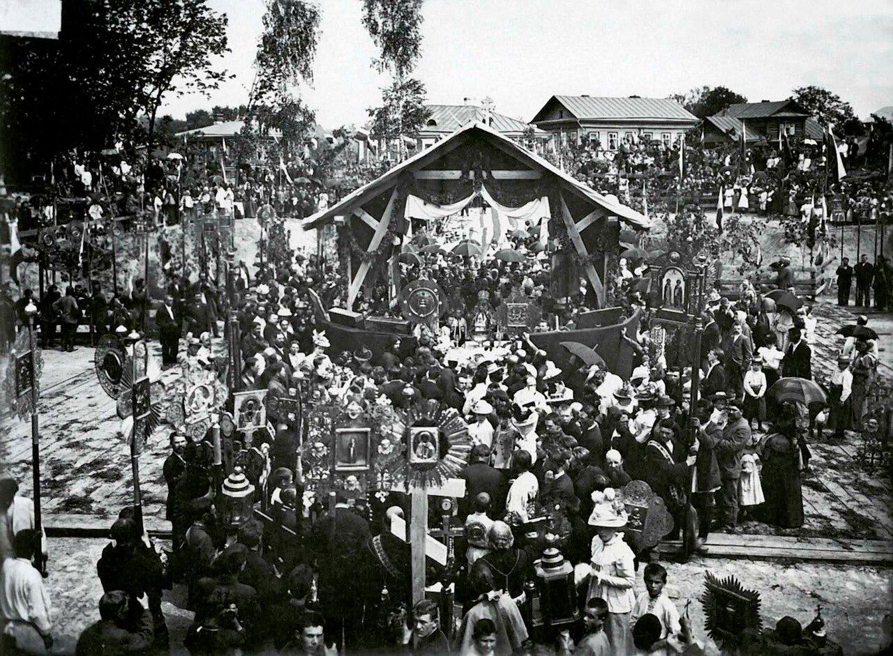 Закладка Спасской церкви в Нижнем Новгороде 1899