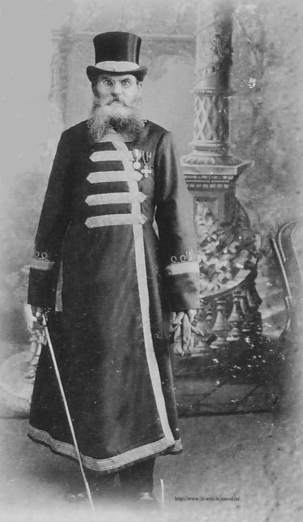 Мастер-кафтанщик Шипицин М.М., токарь инструментальной мастерской, 1906