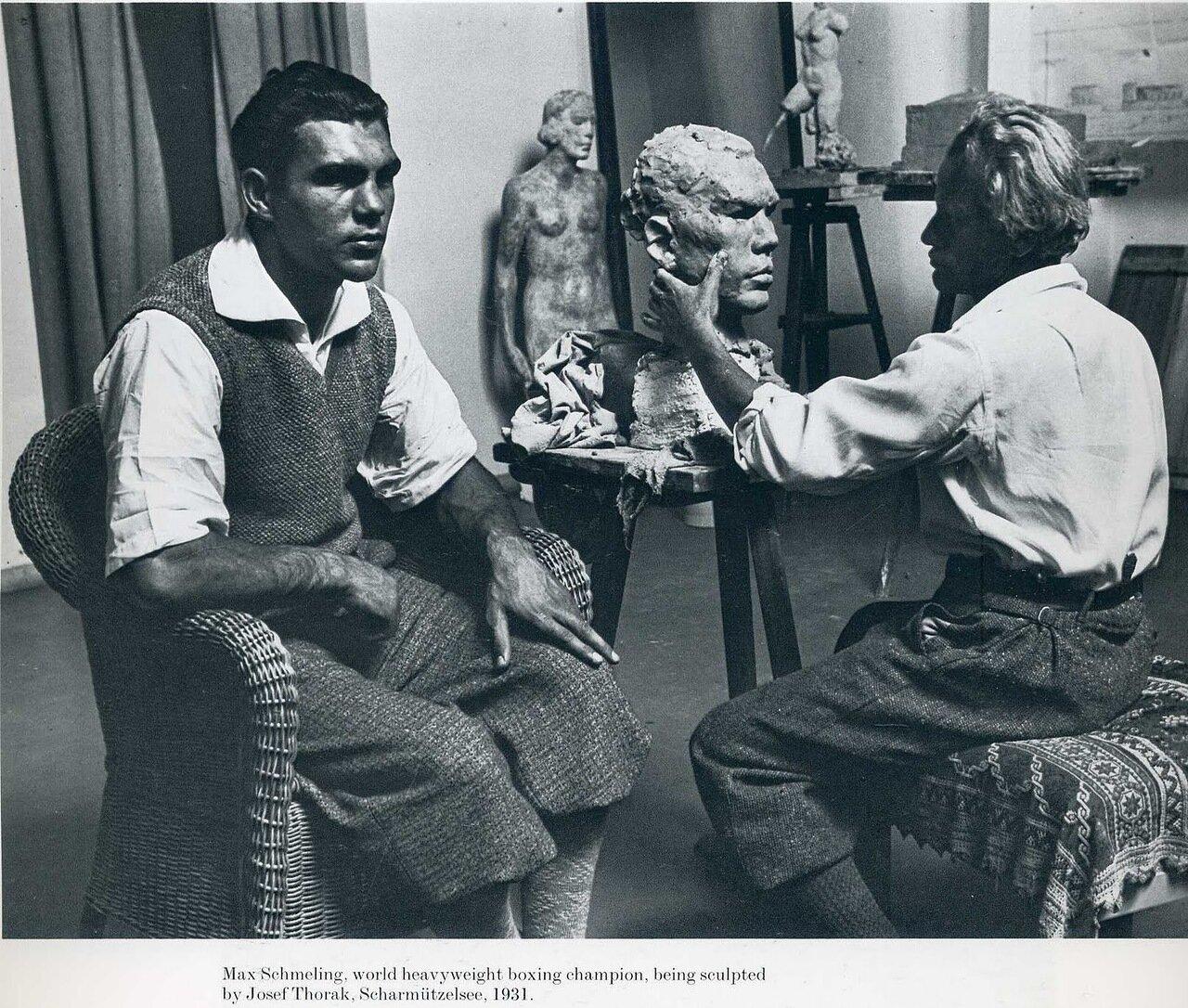 1931. Макс Шмелинг, чемпион мира по боксу, и скульптор Йозеф Торак