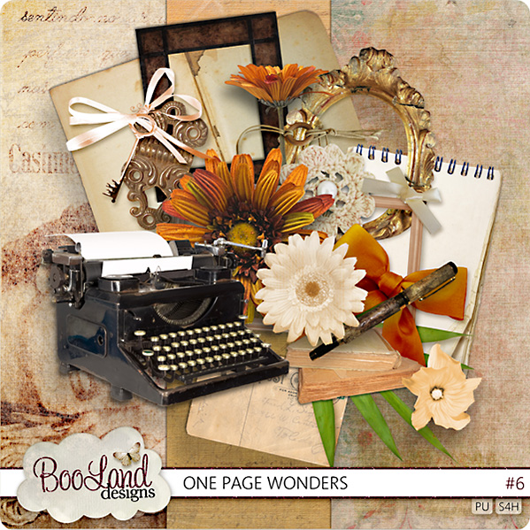 Scrap set One Page Wonders (1-10)