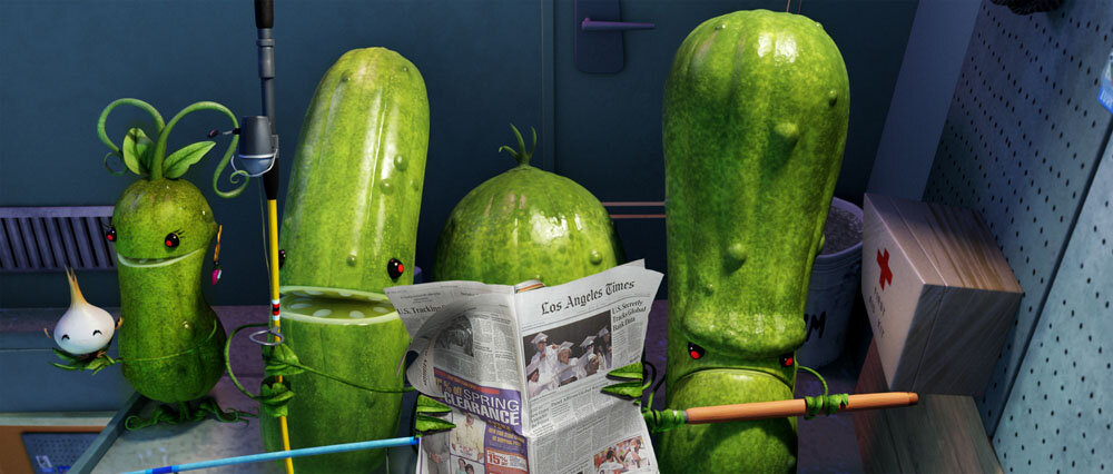The pickles in Sony Pictures Animation's CLOUDY 2: REVENGE OF THE LEFTOVERS.