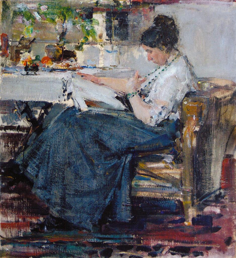 Портрет Н.М.Сапожниковой. Этюд (1915) 2.jpg