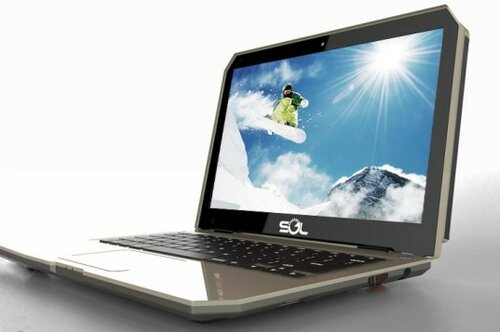 Ноутбук на солнечных батареях