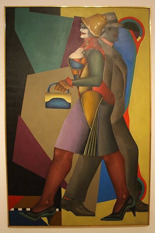 Ричард Линдер (Richard Lindner), Луна над Алабамой (Moon over Alabama), 1963. Холст, масло, 204 x 127.7 cm.