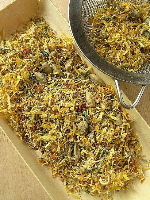Цветки календулы иван чай