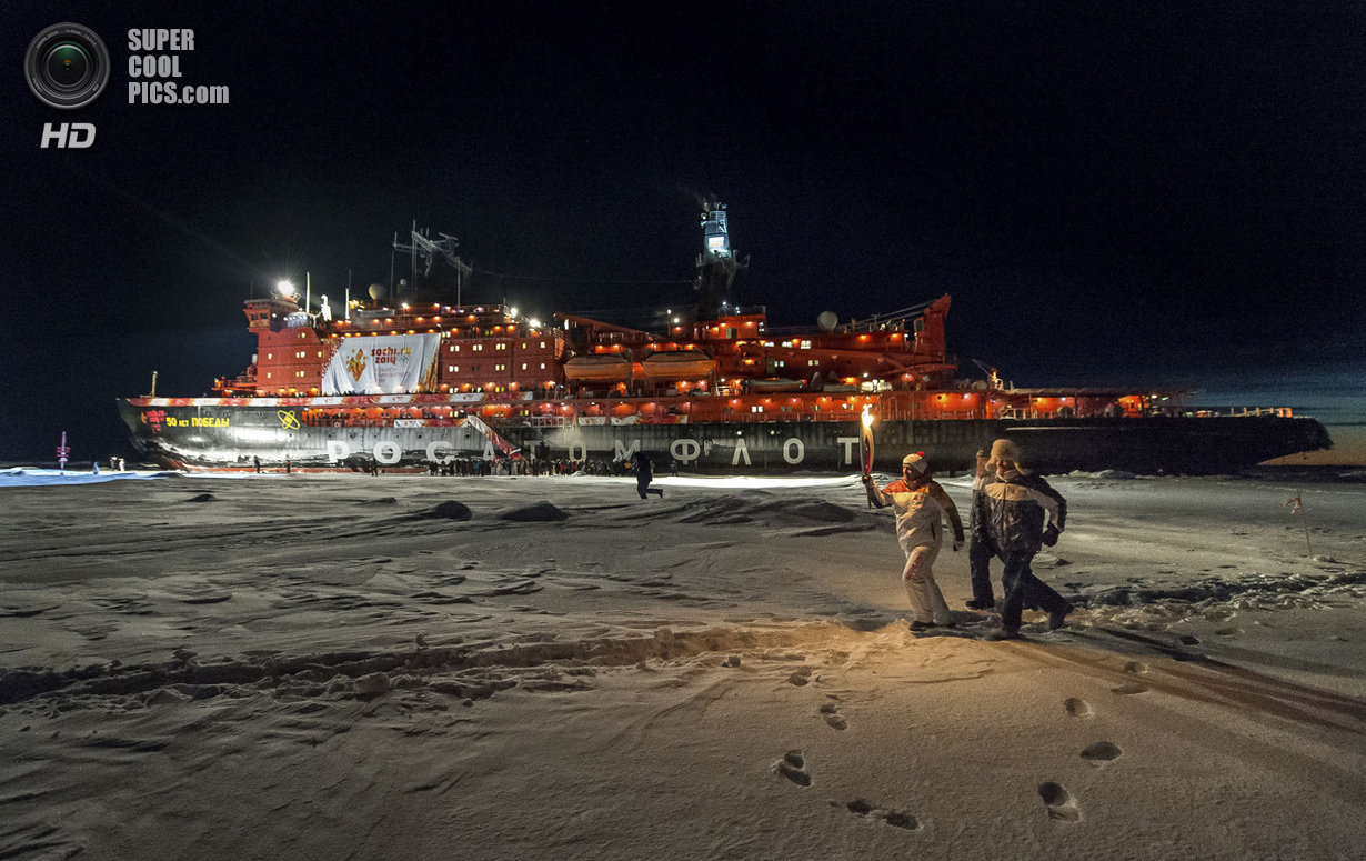 Северный полюс. Северный Ледовитый океан. 19 октября. У атомного ледокола Росатомфлота «50 лет п