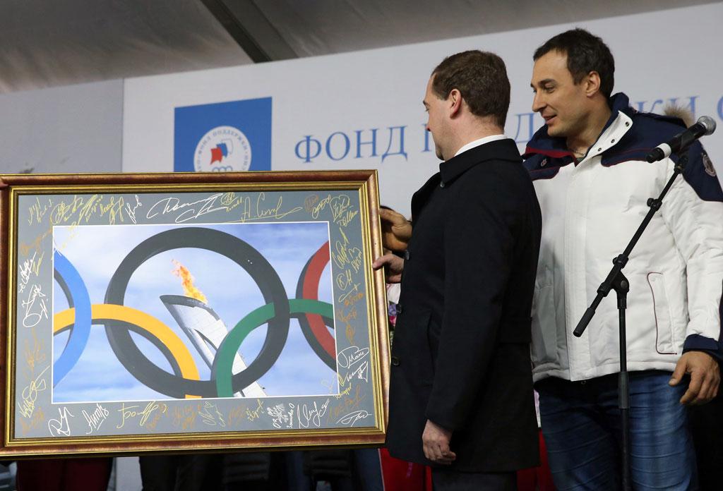 Церемония вручения автомобилей олимпийцам, Россия, Москва, 27 февраля 2014 года