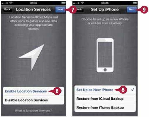 Откроется экран «Настроить iPhone»
