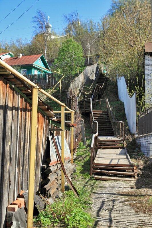 Лестница на Никольскую гору, Гороховец