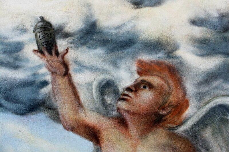 ангел баллончик граффити