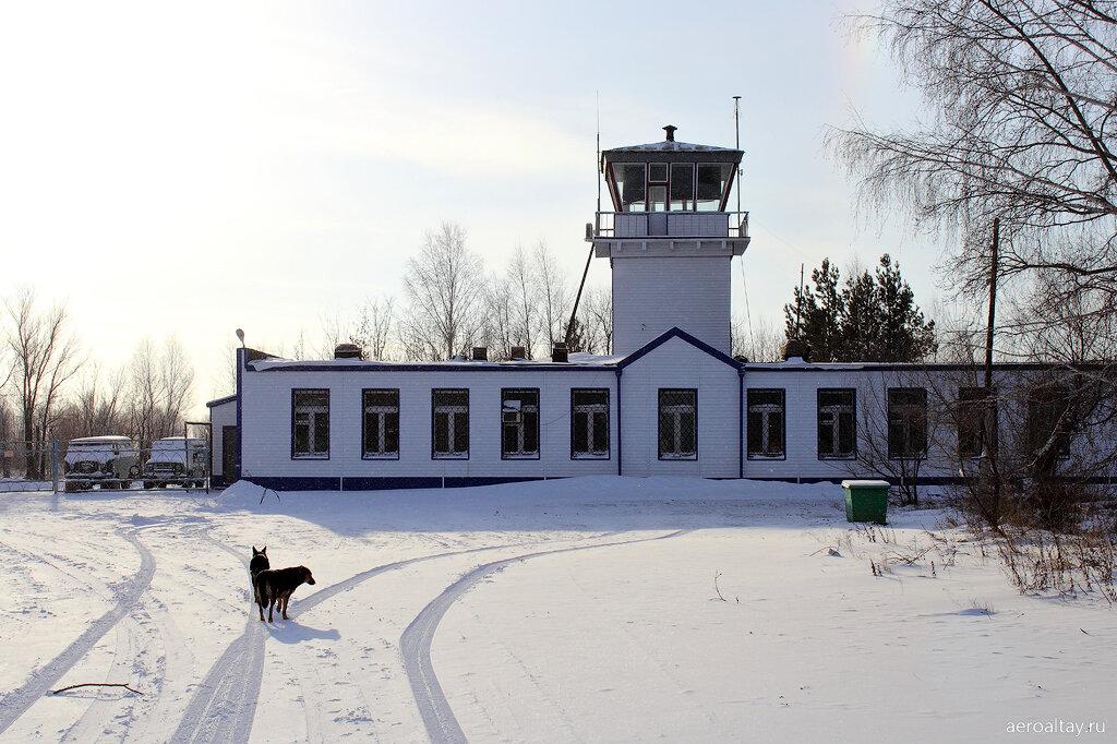 Диспетчерская вышка в аэропорту Бийска