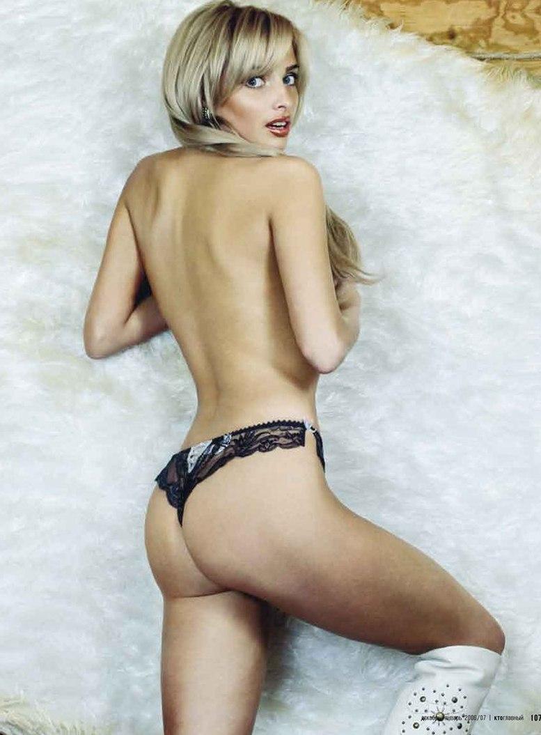 будущая звезда, молодая и голая Татьяна Котова в журнале Кто главный, 2006 год
