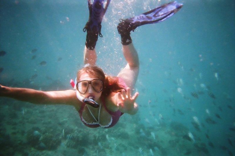 продышаться перед погружением с аквалангом