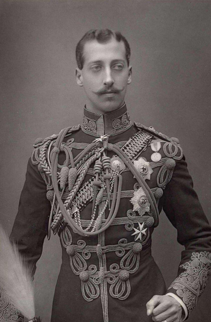 Принц Альберт Виктор, герцог Кларенс и Эвондэйл. 1864-1892. Старший сын будущего Эдуарда VII,  второй в очереди на британский престол, он умер во время пандемии гриппа вскоре после своего 28-летия