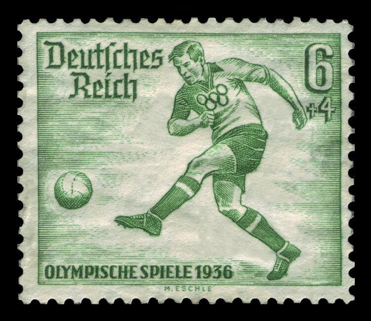 Марка Гитлеровской Германии, выпущенная к Олимпийским играм 1936-го года