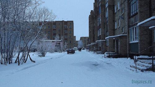 Фотография Инты №6287  Воркутинская 13 и двор Мира 43 (-2 градуса) 16.11.2013_14:04