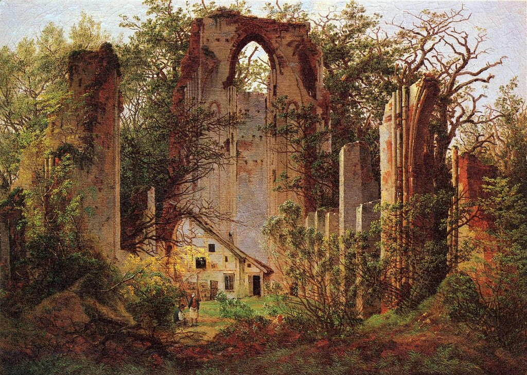 Ruins of the Monastery Eldena near Greifswald. 1824-1825. Oil on canvas, 35 x 49 cm. Inv. NG 1534..jpg