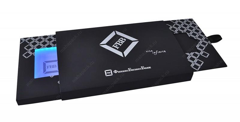 8. Другой вариант для подарочной карты или сертификата — коробка-слайдер со светодиодной подсветкой,