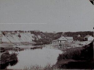 Вид мельницы на реке Полоть.