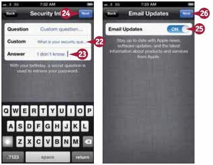 Откроется экран уведомлений по электронной почте (Email Updates)