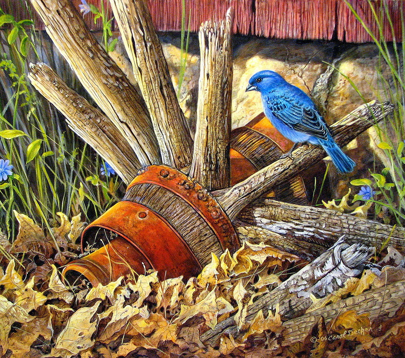 Художница Carol Decker. Птицы
