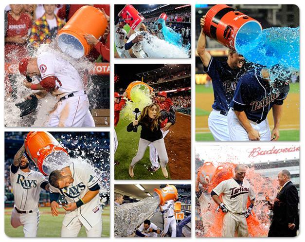 Победный душ в бейсболе - MLB Gatorade shower