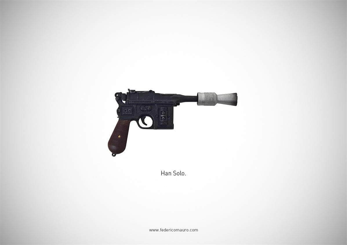 Знаменитые пушки - оружие культовых персонажей / Famous Guns by Federico Mauro - Han Solo (Star Wars)