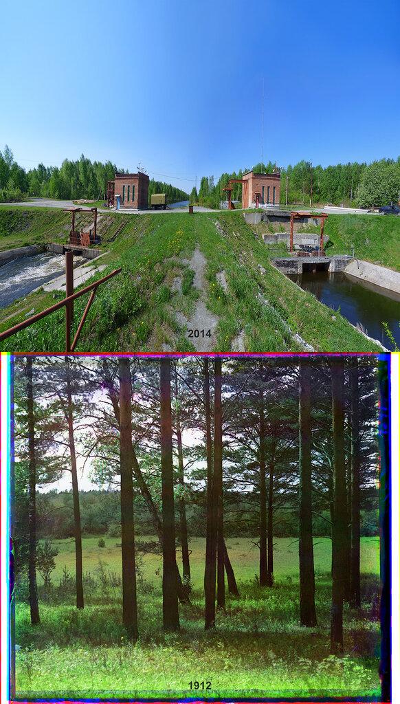 На дамбе водохранилища на р. Чусовой (у перевала на р. Решотку).