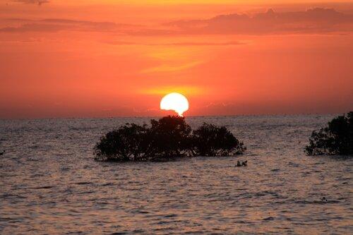 Камбоджа, Сиануквиль, закат