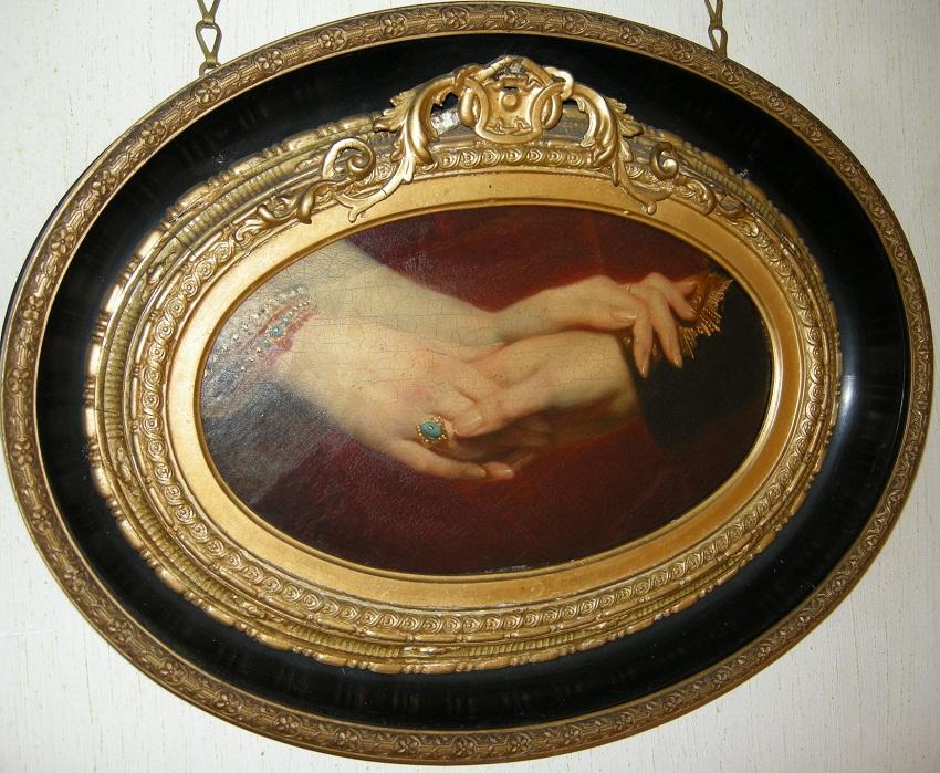 Винтерхальтер (1805-73)Связанный Руки королевы Виктории (1819-1901) и принца Альберта (1819-61)  c.1840-60