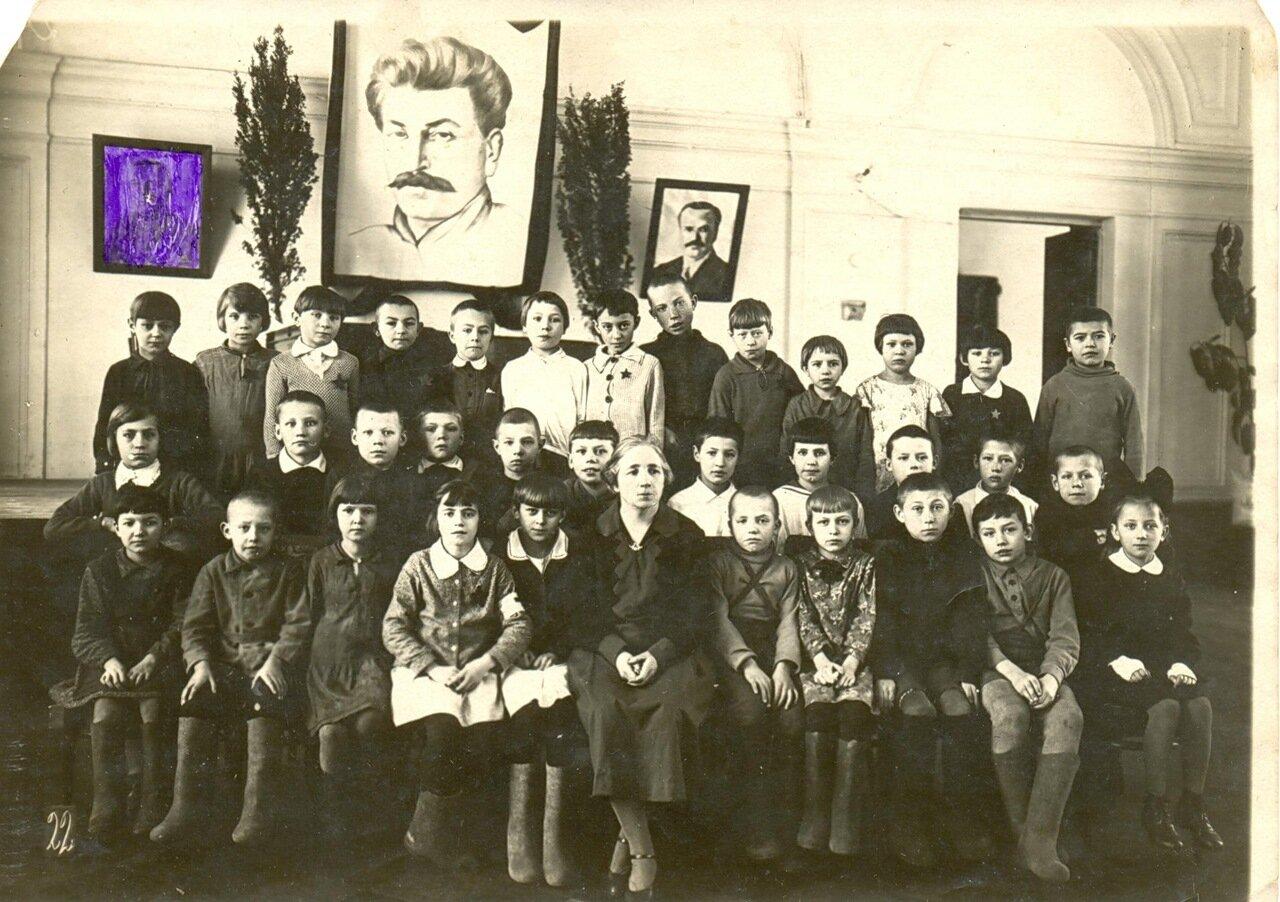 1936. Ярославль, школа № 55 имени Некрасова на улице Советской, д.10