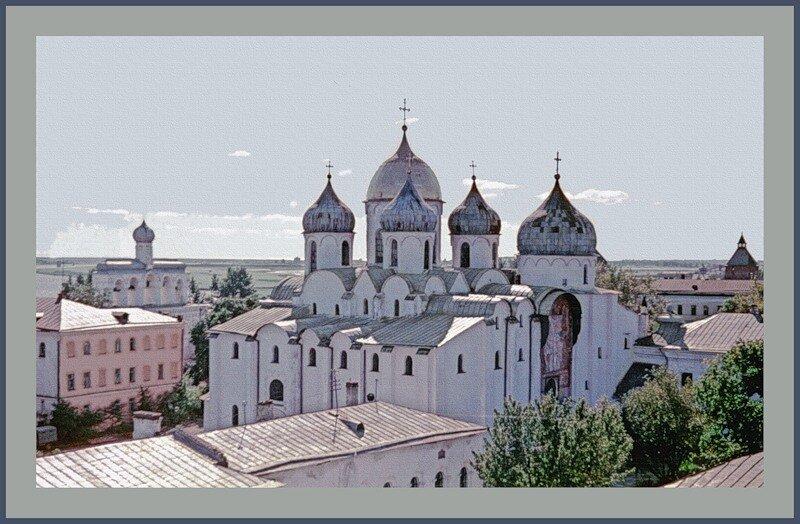 София Новгородская со стены Детинца.