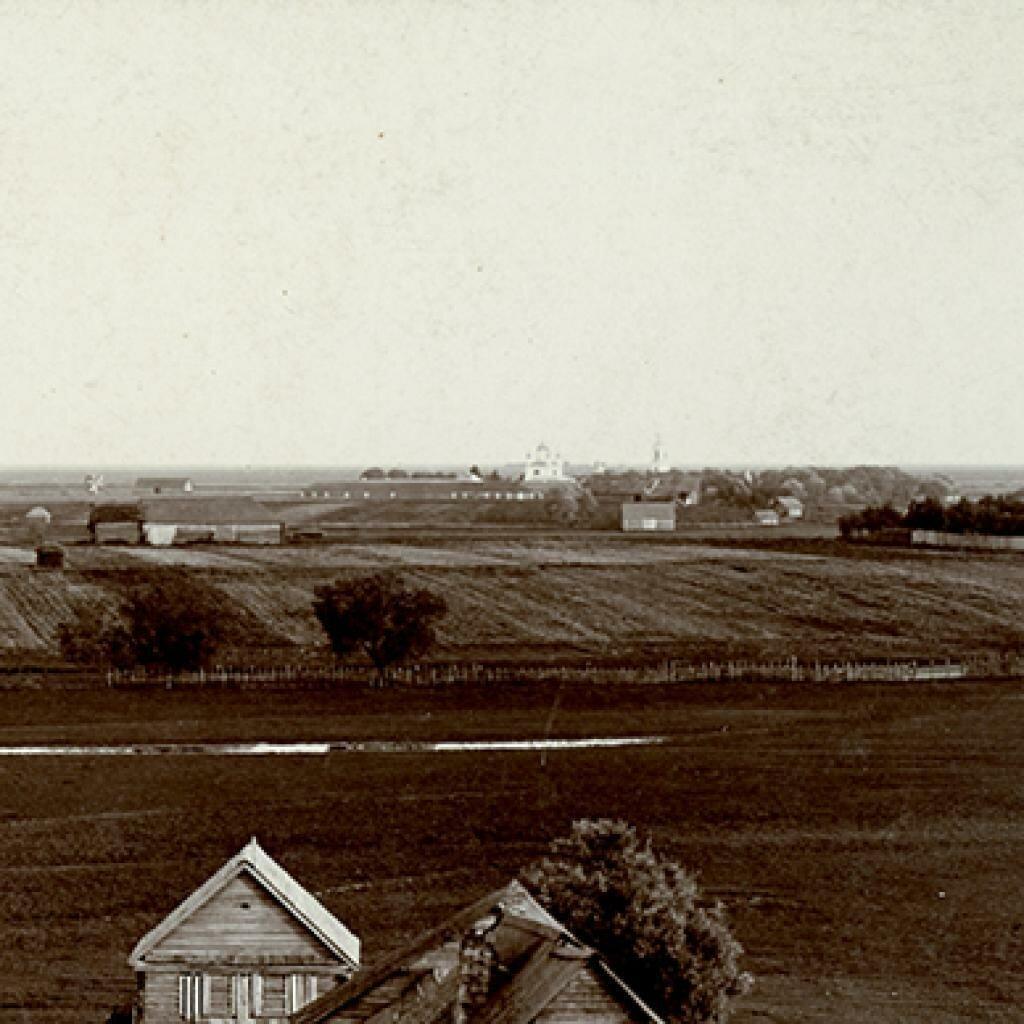 Вид от церкви Спаса Нередицы на Сковородский монастырь