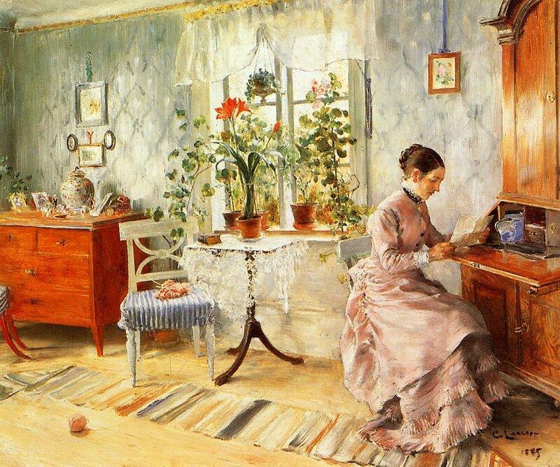 интерьеры в картинах художников днем