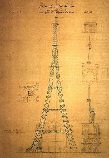 Эскиз Эйфелевой башни
