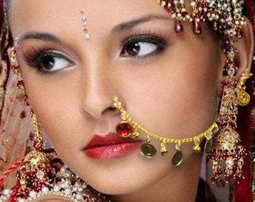 Новый всплеск моды - большие кольца в носу