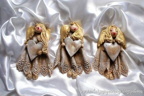 Соленые Ангелы: лепим из соленого теста