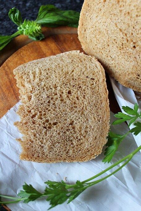 Очень вкусный белый хлеб с солодом в хлебопечке
