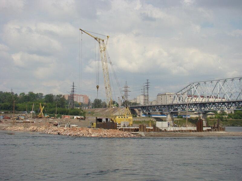 Строительство 4 автомобильного моста через Енисей