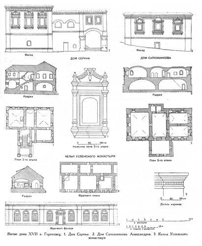 Городское жилье в России 17 века, чертежи