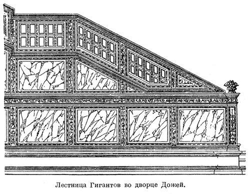 Лестница Гигантов во Дворец Дожей, боковой фасад