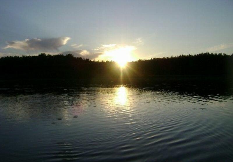 Рассвет на озере (10.07.2013)